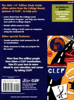 The CLEP Official Study Guide 2004: All-New Fiftheenth Edition [With CDROM]