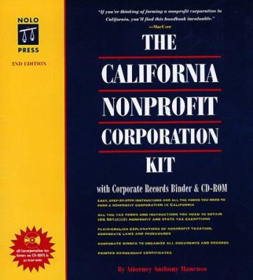 The California Nonprofit Corporation Kit [With *] 9780873374880