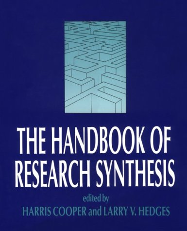 The Handbook of Research Synthesis 9780871542267