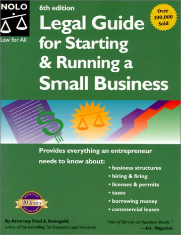The Legal Guide to Starting and Running a Small Business 9780873376426