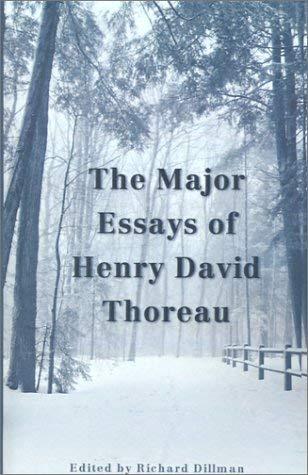 The Major Essays of Henry David Thoreau 9780878755233