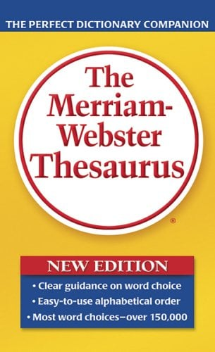 The Merriam-Webster Thesaurus 9780877798507