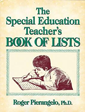 The Special Educator's Book of Lists 9780876285787