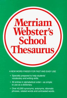 Webster's School Thesaurus 9780877791782