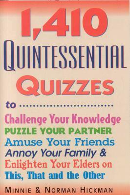 1,410 Quintessential Quizzes 9780884864264