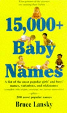 15,000+ Baby Names 9780881662825
