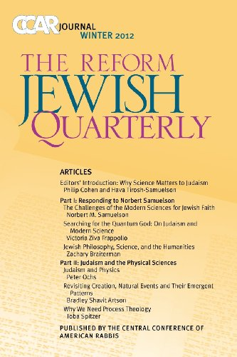 Ccar Journal, the Reform Jewish Quarterly Winter 2012: Judaism and Science 9780881231809