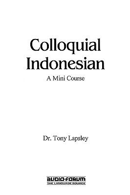 Colloquial Indonesian 9780884326465
