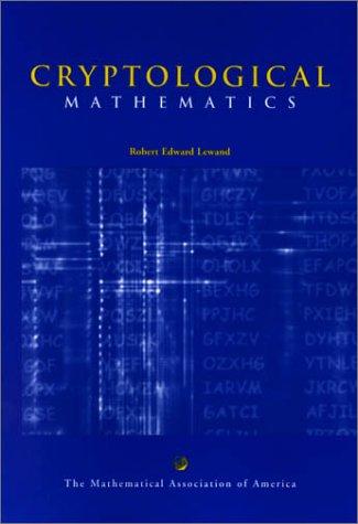 Cryptological Mathematics 9780883857199