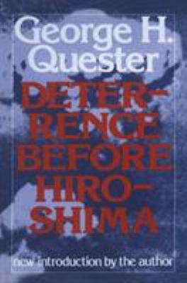 Deterrence Before Hiroshima 9780887380877