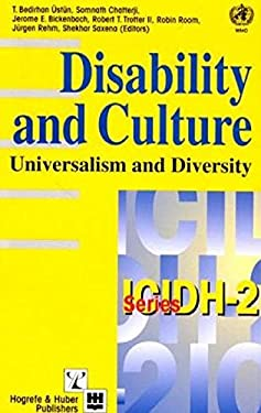 Disability and Culture: Universalism and Diversity 9780889372399