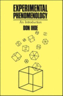 Experimental Phenomenology 9780887061998