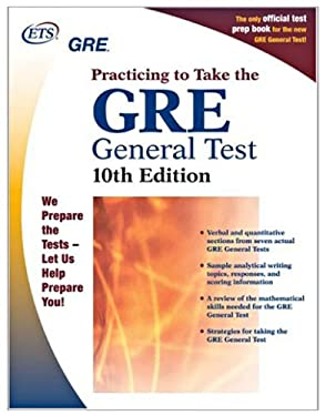 GRE: Practicing to Take the General Test 9780886852122