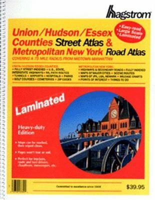 Hagstrom Union/Hudson/Essex Counties & Metro New York: Covering a 75 Mile Radius from Midtown Manhattan 9780880976404