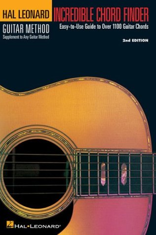 Incredible Chord Finder - 6 Inch. X 9 Inch. Edition: Hal Leonard Guitar Method Supplement 9780881881400