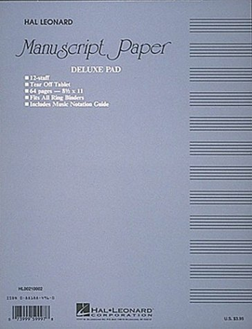 Manuscript Paper (Deluxe Pad)(Blue Cover) 9780881884968