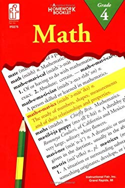 Math: An Integrated Approach Homework Booklet, Grade 4 9780880129428