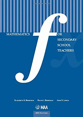 Mathematics for Secondary School Teachers 9780883857731