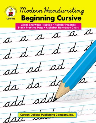 Modern Handwriting: Beginning Cursive, Grades 1 - 3 9780887245060