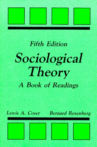 Sociological Theory: A Book of Readings 9780881334579