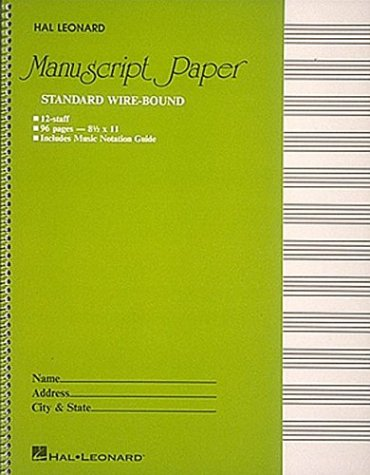 Standard Wirebound Manuscript Paper (Green Cover) 9780881884999