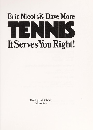 Tennis: It Serves You Right