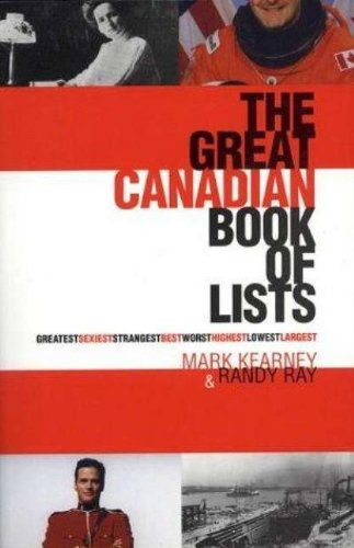 The Great Canadian Book of Lists 9780888822130