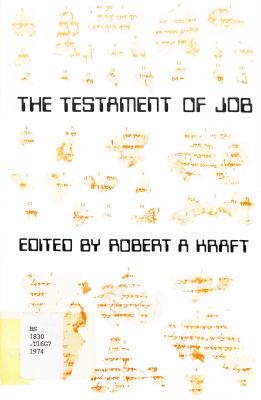 The Testament of Job, According to the Sv Text 9780884140443