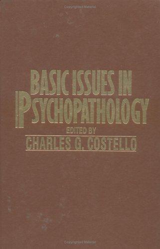 Basic Issues in Psychopathology