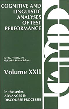 Cognitive and Linguistic: Analyses of Test Performance 9780893912956