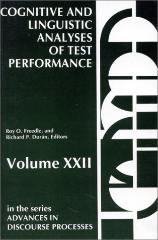 Cognitive and Linguistic: Analyses of Test Performance 9780893913663