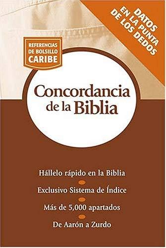 Concordancia de La Biblia: Serie Referencias de Bolsillo 9780899226231