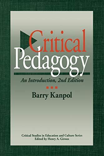 Critical Pedagogy 9780897895538