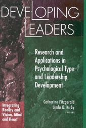 Developing Leaders: Research and Applications in Psychological Type and Leadership Development 4007140