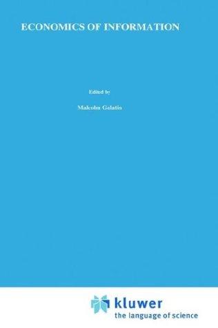 Economics of Information 9780898380675