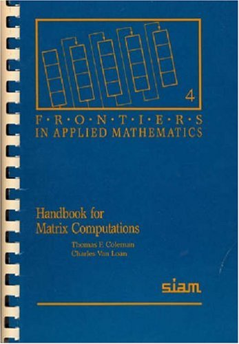 Handbook for Matrix Computations 9780898712278
