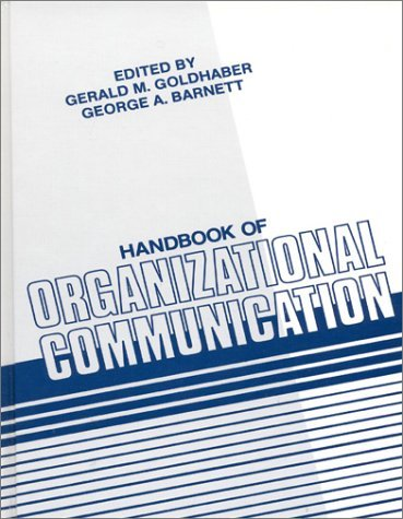 Handbook of Organizational Communication 9780893914462