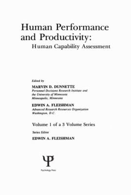 Human Performance and Productivity: Volumes 1, 2, and 3 9780898590852