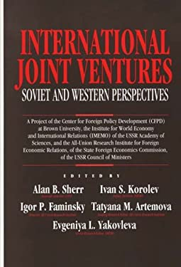 International Joint Ventures: Soviet and Western Perspectives 9780899306063