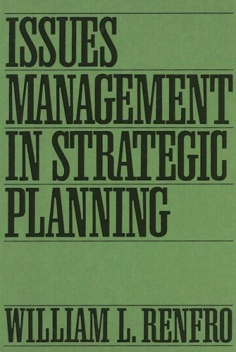 Issues Management in Strategic Planning 9780899307855