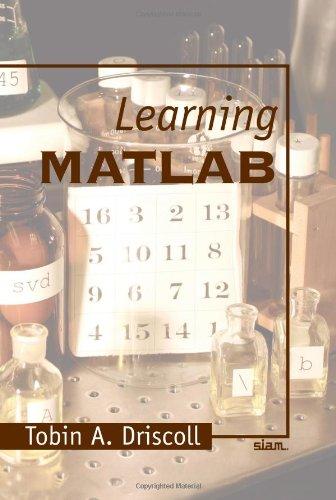 Learning MATLAB 9780898716832
