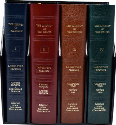 Liturgy of the Hours (Set of 4) Large Print 9780899427102