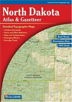 N Dakota Atlas & Gazetteer 9780899333434