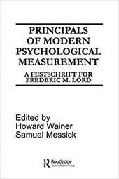 Princples Modern Psych.Measur.Pod - Wainer / Wainer, Howard / Messick, Samuel