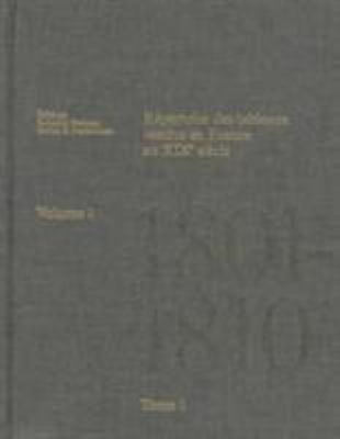 R Pertoire Des Tableaux Vendus En France Au Xixe Si Cle: Two-Part Set: Volume I, 1801-1810: Tome 1, A-N; Tome 2, O-Z Et Anonymes