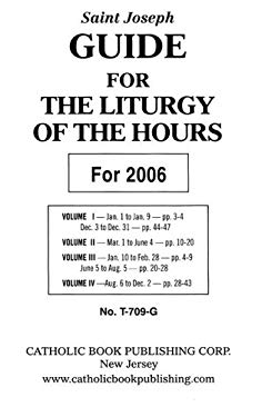 Saint Joseph Guide for the Liturgy of the Hours 9780899427119