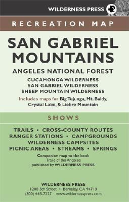 Map San Gabriel Mountains 9780899973821