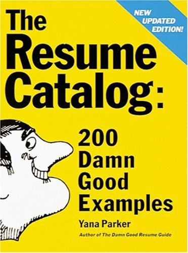 The Resume Catalog 9780898158915
