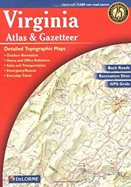 Virginia Atlas & Gazetteer 6/E 9780899333267