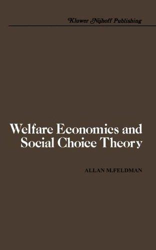 Welfare Economics and Social Choice Theory 9780898380330